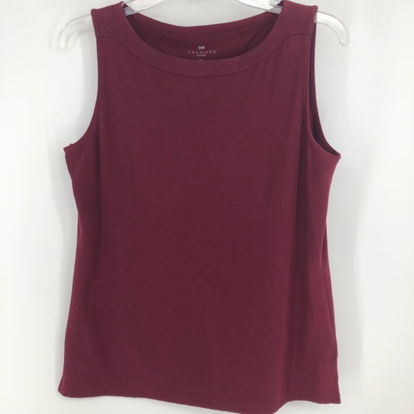 Talbots Tops - ☀️Talbots burgundy cotton tank